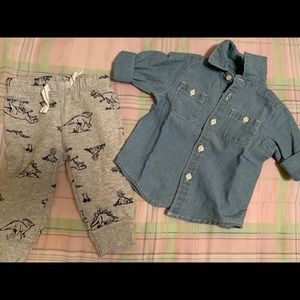 Other - Long sleeve button down too with pant set
